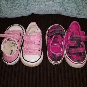 Toddler girl converse size 4 and Van's size 4 lot